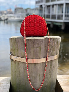 Small Red bag with chain