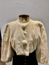 Load image into Gallery viewer, White Mink Crop Jacket