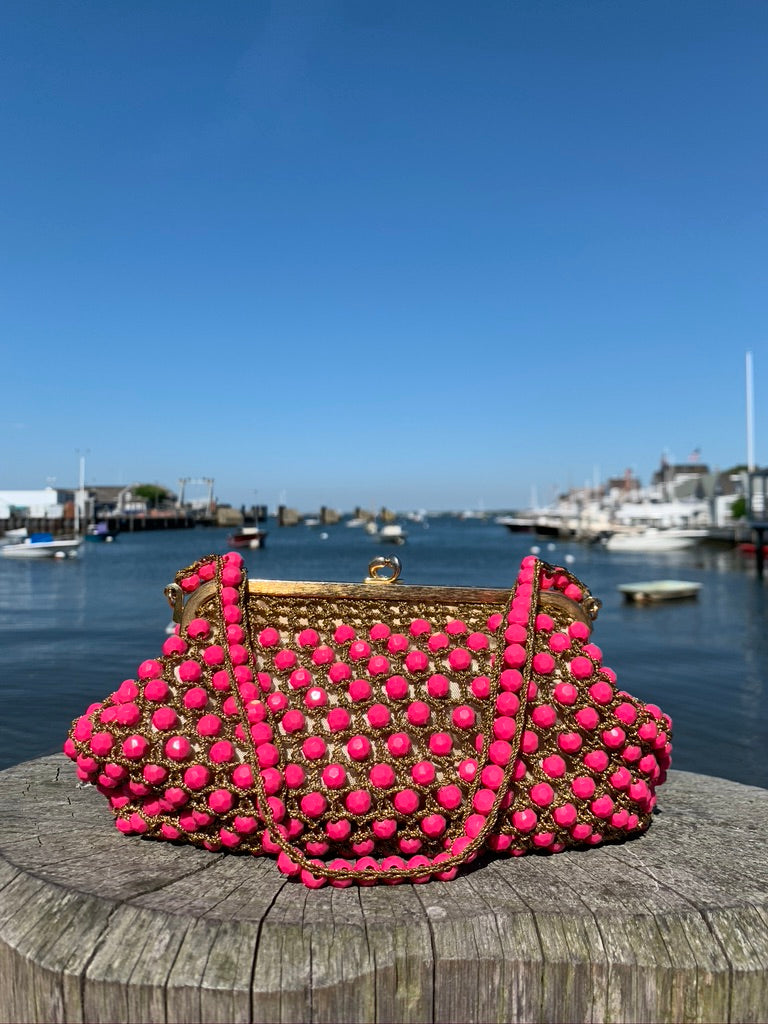 Rosenfeld Fuchsia Beaded Evening Bag