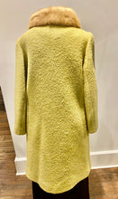 Load image into Gallery viewer, 1960s Sage Coat with Mink Collar
