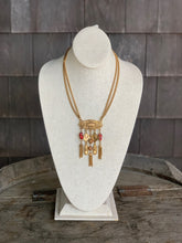 Load image into Gallery viewer, Gold Necklace with glass beads