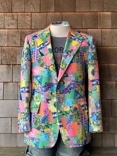 Vibrant Patchwork Men's Lilly Jacket