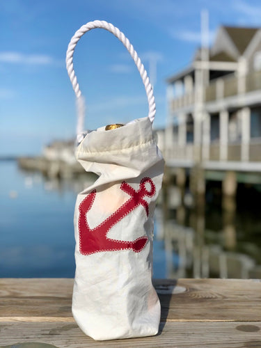 Sea Bag Wine Bag Red Anchor