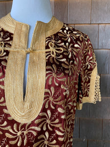 Luxe Gold and Brown CAFTAN