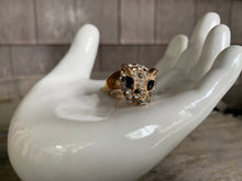 Load image into Gallery viewer, RHINESTONE LEOPARD RING