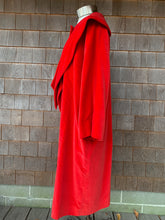 Load image into Gallery viewer, Red Velvet Scarf Tie Coat