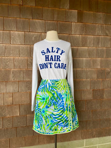 LILLY BLUE GREEN ZEBRA WRAP MI