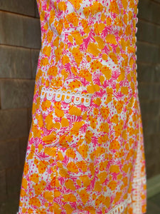 LILLY SHIFT W/ LACE ORANGE AND