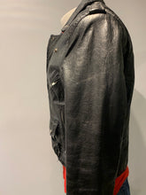 Load image into Gallery viewer, Men's Leather Moto Jacket