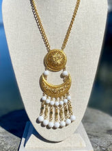 Load image into Gallery viewer, Vendome Gold Chain Necklace with Crescent Moon Dangle Pendant