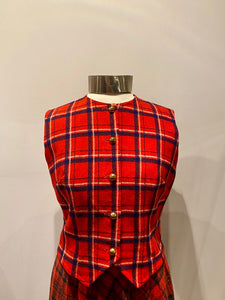 Young Pendleton Plaid Vest