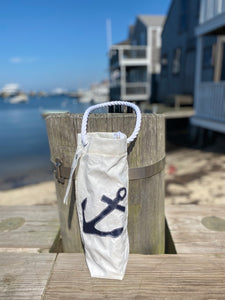 Sea Bag Wine Bag Blue Anchor