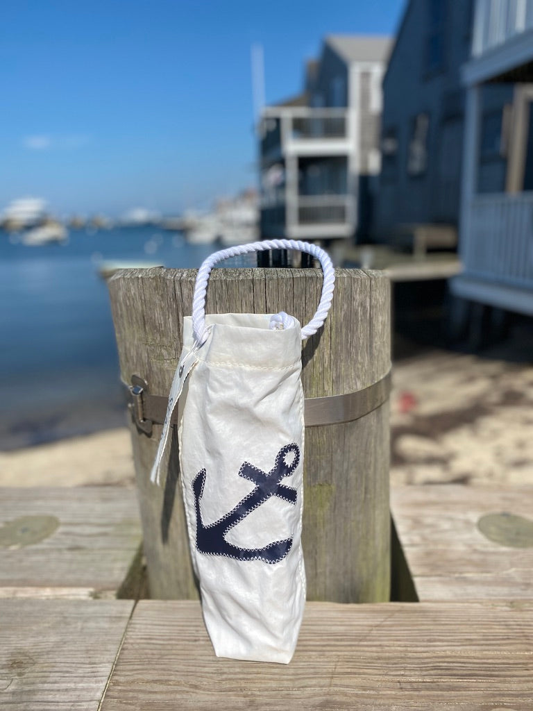 SEA BAG WINE BLUE ANCHOR