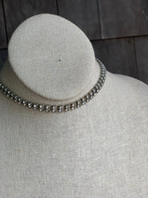 Load image into Gallery viewer, 1950s Rhinestone Two Row Choker Necklace
