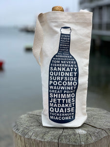 WINE TOTE NANTUCKET NAVY Sgl