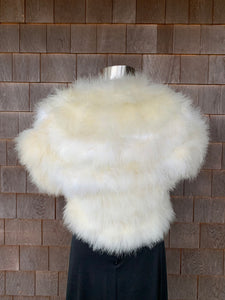 Ivory Marabou Feather Stole