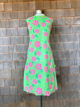 Load image into Gallery viewer, Green + Pink Floral Lilly Dress