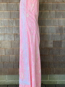 Lilly Pink Floral Maxi Vertical Lace Trim