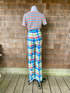 1970s Wrangler Plaid Cuffed Pants