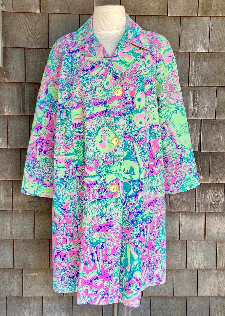 Rare Lilly Pulitzer Pink & Green Coat