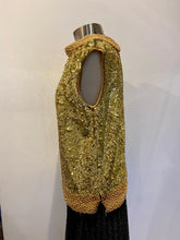 Load image into Gallery viewer, Gold Sequin Shell with Beaded Collar