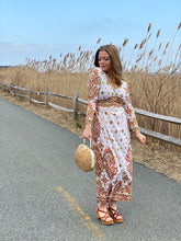 Load image into Gallery viewer, Maurice Ivory Long Sleeved Botanical Maxi