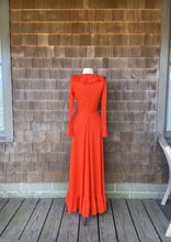 Load image into Gallery viewer, Fred Rothschild Orange Ruffles Dress
