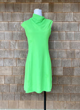 Load image into Gallery viewer, Lilli Diamond Lime Green Crepe Sleeveless Dress
