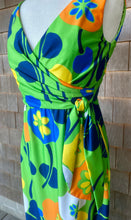 Load image into Gallery viewer, Montaldo's Green Silk Poppy Maxi