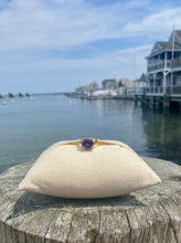 Load image into Gallery viewer, Faux Amethyst Ring with Gold Band