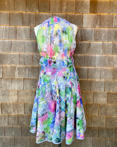 Geoffrey Beene Floral Dress with Striped Lining