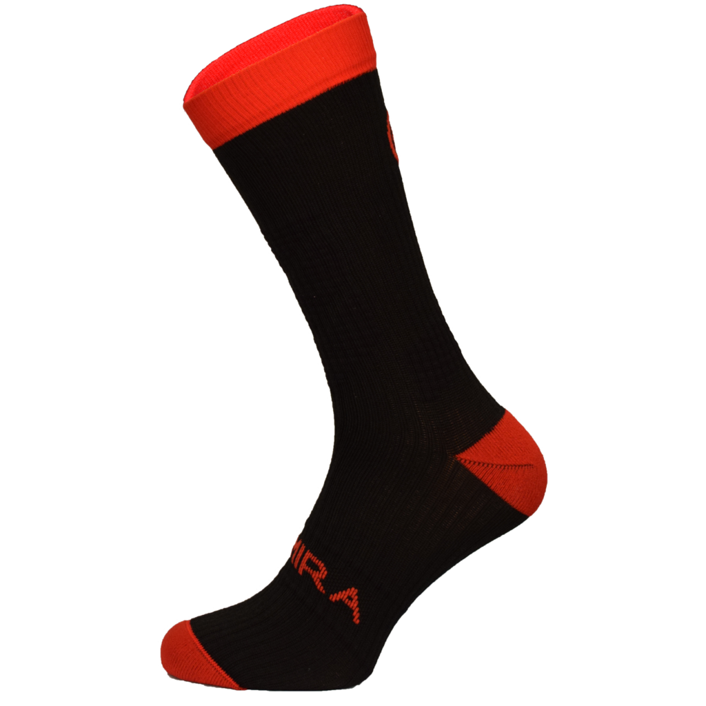 Kymira Infrared Crew Socks Black & Red