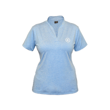 Load image into Gallery viewer, Kymira Golf Split Neck Mandarin Sky Blue