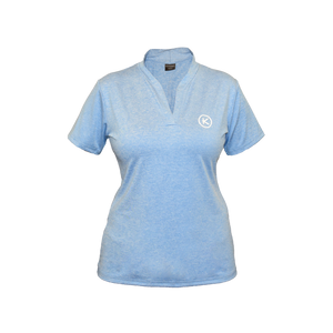 Kymira Golf Split Neck Mandarin Sky Blue