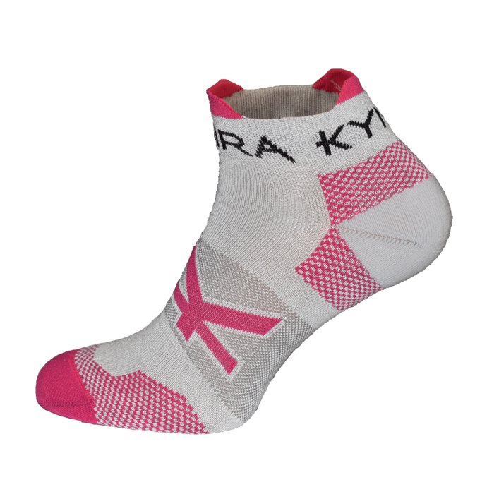 Kymira Infrared Ankle Socks Grey & Pink