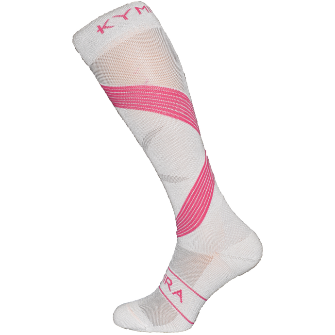 Kymira Infrared Compression Socks Grey & Pink