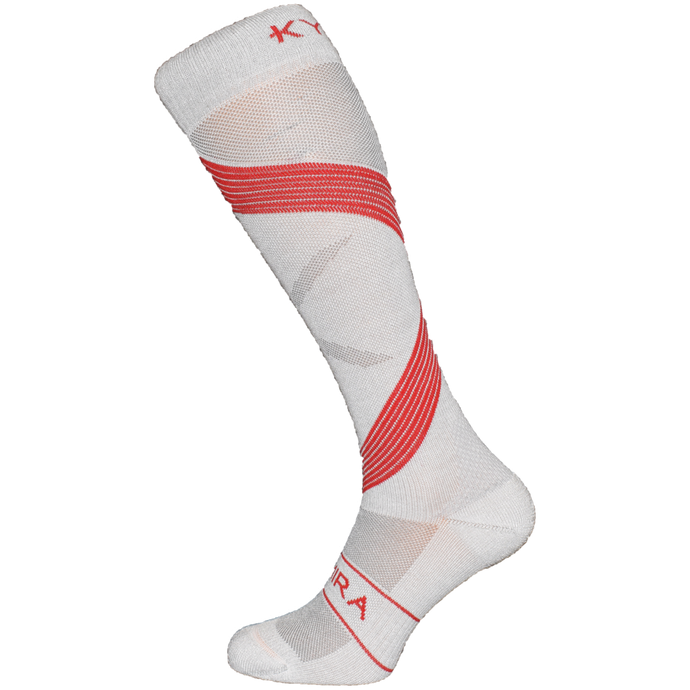 Kymira Infrared Compression Socks Grey & Red