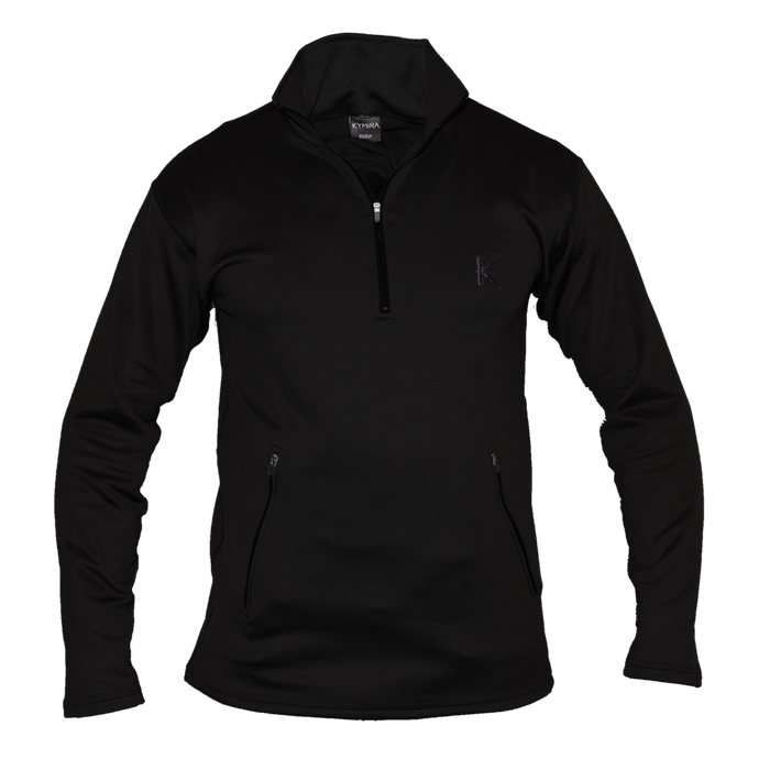 Kymira Men's Half Zip Fleece Black