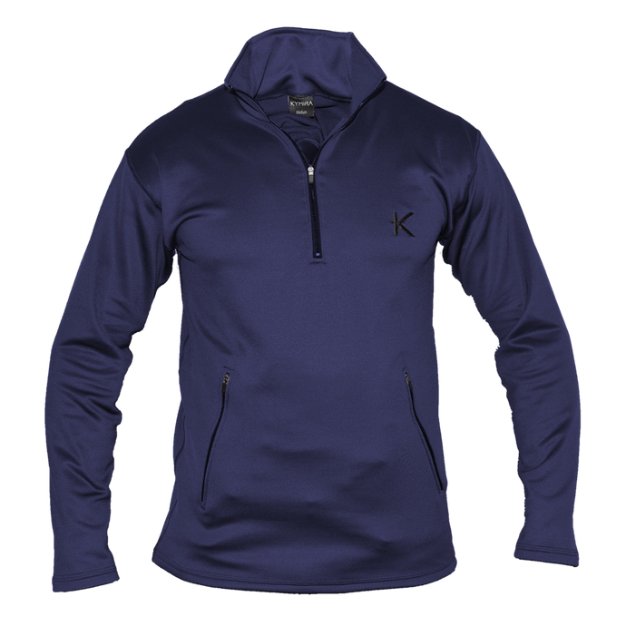 Kymira Men's Half Zip Fleece Blue