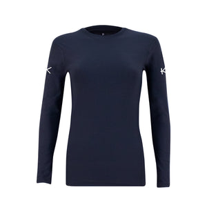 Women's Infrared Golf Base Layer Top - iGoSport x Kymira. Long sleeve. Black.