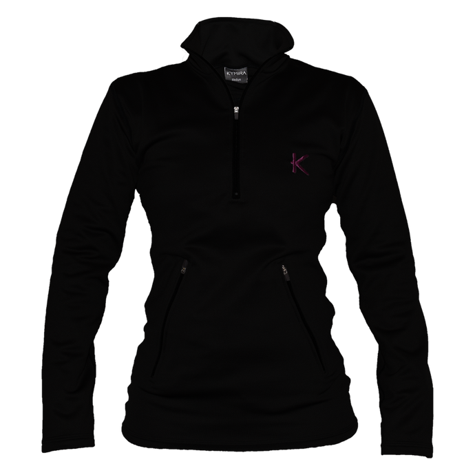 Kymira Women's Half Zip Fleece Black