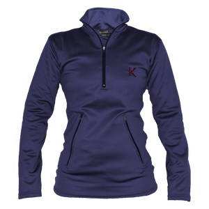 Kymira Women's Half Zip Fleece Blue