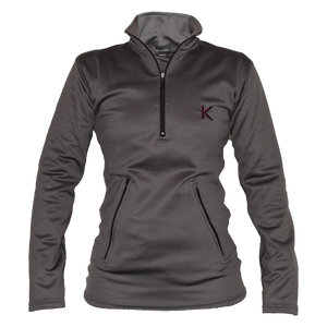 Kymira Women's Half Zip Fleece Grey