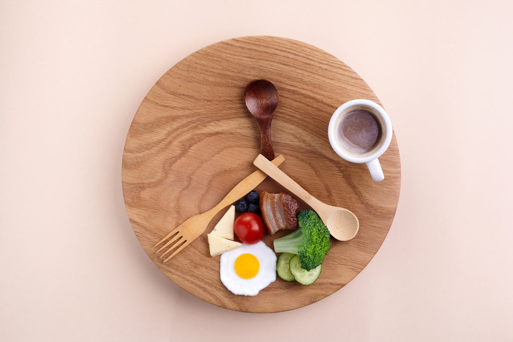 Intermittent fasting. Healthy breakfast, diet food concept. Organic meal. Fat loss concept