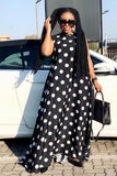 Black and White Polka Dots Maxi Dress