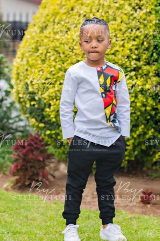 Boys African Swag Shirt - Kiddies