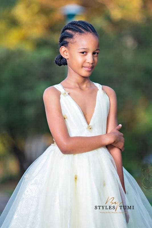 Champagne Princess Dress - Kiddies