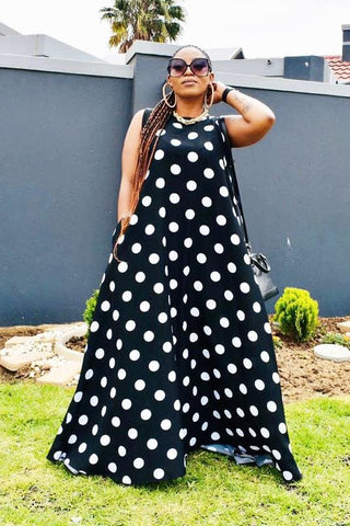 Maxi Polka Dot Dress