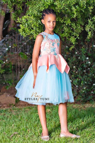 Peplum Pink and Blue Princess Tutu - Kiddies - Dress