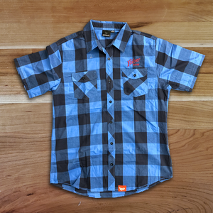 Men's Buffalo Check Short Sleeve Button UP